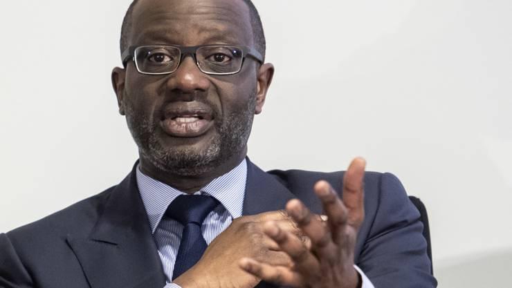 Credit Suisse-Chef Tidjane Thiam kann für 2018 den ersten Gewinn der Grossbank seit 2014 verkünden. (Archiv)
