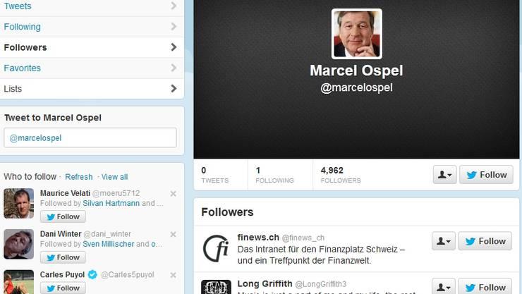 Marcel Ospel auf Twitter.
