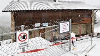 Sperrzone: Das sonst für Wanderer am Wochenende offen stehende General-Wille-Haus beheimatet momentan Soldaten in Quarantäne.