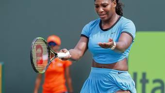 Scheiterte in Miami überraschend schon im Achtelfinal: Serena Williams