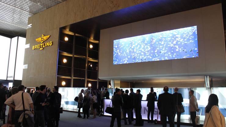 So präsentierte sich das Aquarium letztes Jahr an der Baselworld am Stand von Breitling.