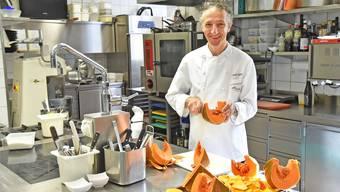 Arno Sgier kocht seit 25 Jahren im Restaurant Traube in Trimbach.