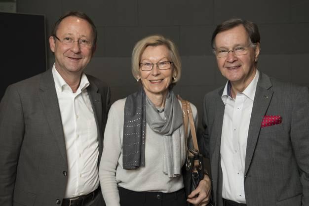 Trafo-CEO Roberto Scheuer mit Lutz und Rosemarie Steinberg (ehemals Omya).