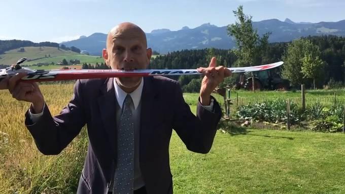 """Daniel Koch, ehemaliger """"Mister Corona"""", ist mit einem neuen Video zurück. Darin mahnt er erneut zur Einhaltung der Hygienemassnahmen."""