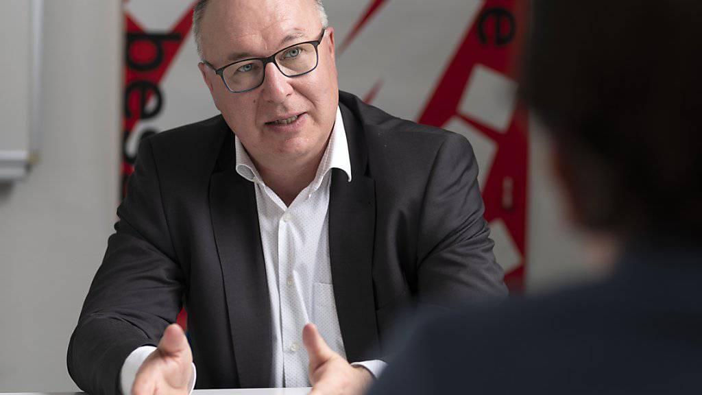 """""""Wir wollen keine falschen Hoffnungen wecken"""": Gewerkschaftsbund-Präsident Pierre-Yves Maillard. (Archivbild)"""