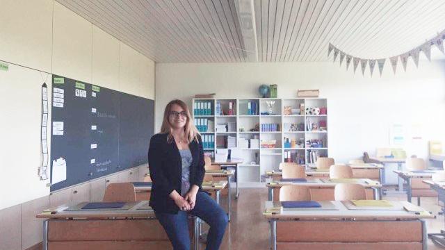 Sie hat heute einen speziellen Tag: Céline Fuchs tritt ihre erste Stelle als Primarlehrerin an.