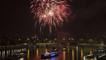 Imposant: Mit dem Silvester-Feuerwerk wird in Basel der Jahreswechsel jeweils laut und farbenprächtig inszeniert.