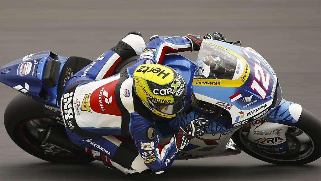 Nur kleine Fortschritte: Tom Lüthi auf dem Circuit in le Mans