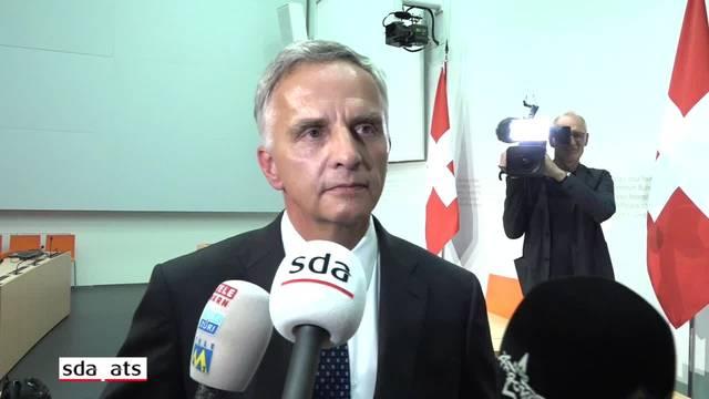 Didier Burkhalter äussert sich zu seinem überraschenden Rücktritt