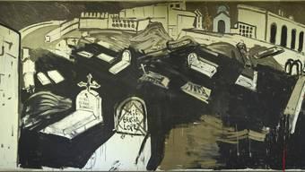 Freilegung von Varlin-Wandgemälde