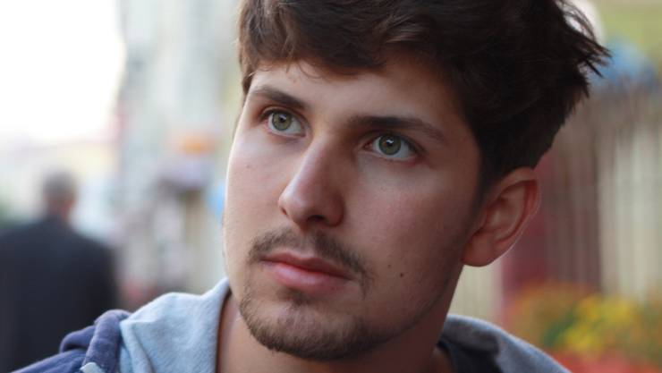 Der Preisträger Lukas Huber.
