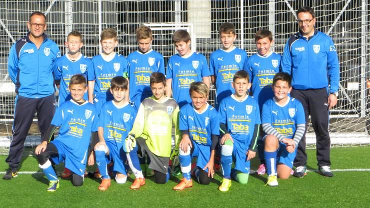 FC Frenkendorf D- Junioren mit den beiden Trainern