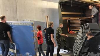 Gerätelieferung in die Kunsteisbahn Aarau (Keba) fürs ETF 2019