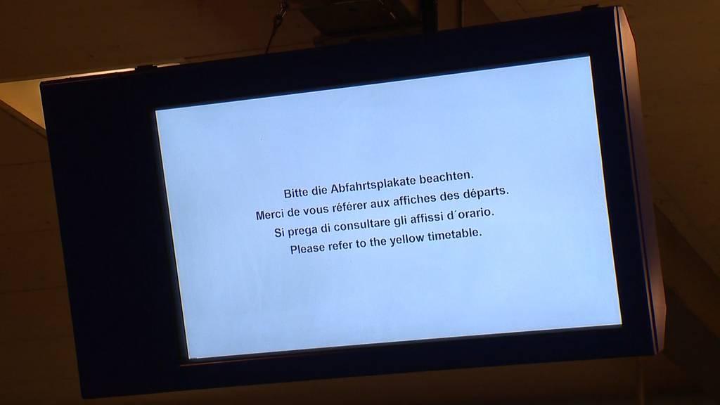 SBB-Anzeigetafeln schweizweit teilweise ausgefallen