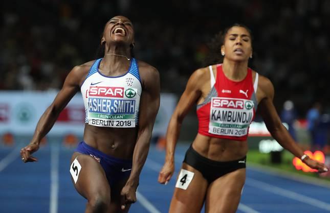 ...schliesslich verpasste Mujinga Kambundji die Medaillenränge um 6 Hundertstel.