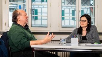 An einem Tisch: der Wetziker Jürg Streuli und die ehemalige Zuger Kantonsrätin Jolanda Spiess-Hegglin.