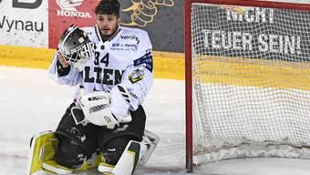 EHC-Olten-Goalie Silas Matthys.
