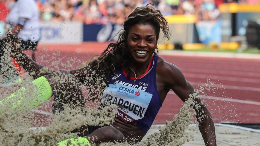 Ist aktuell die unbestrittende Sandkönigin: Weit- und Dreispringerin Caterine Ibarguen aus Kolumbien