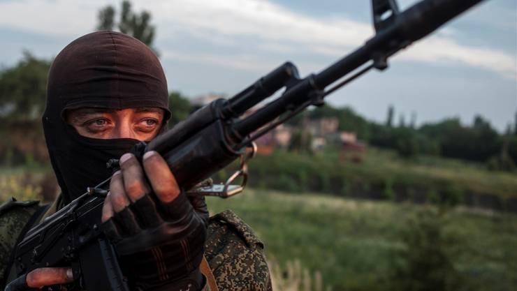 Separatist in der Nähe von Lugansk in der Ostukraine.AP/KEY