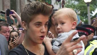 Justin Bieber und  sein Bruder Jaxon