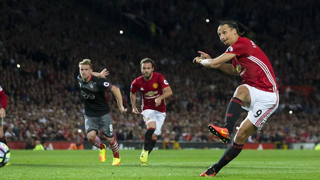 Manchester United ist auch in England treffsicher