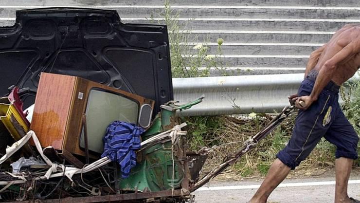 Szene aus der bulgarischen Stadt Kustendil - in Bulgarien gelten 32,8 Prozent der Bevölkerung als arm. (Archivbild)