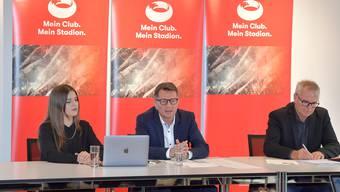 Die Bauherrin hofft, dass ihre neue Version des Stadions endlich Einklang findet. Gar nicht damit einverstanden ist die Vereinigung meinstadion.ch.