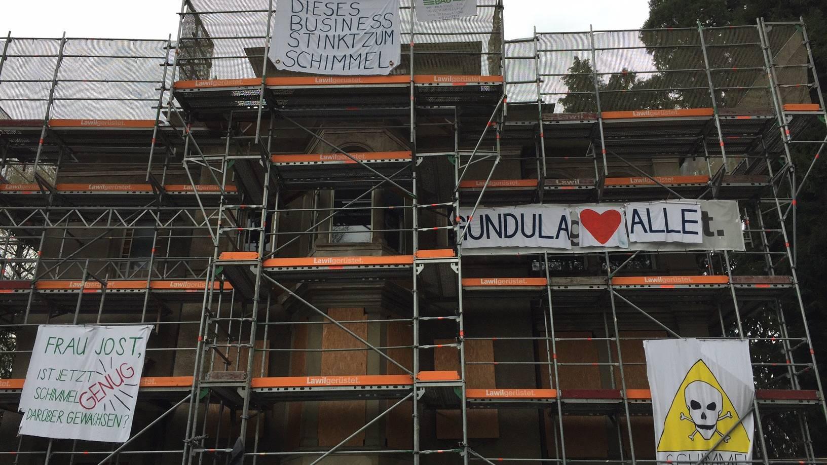 Erneuter Polizeieinsatz wegen besetzter Villa