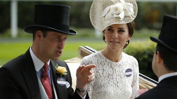 """""""Deshalb bin ich so dünn"""": Prinz William und Herzogin Kate beweisen Humor. (Archivbild)"""