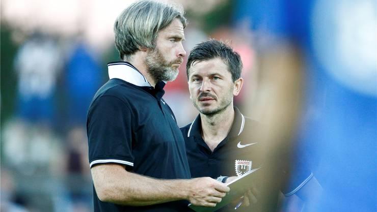 Stephan Keller (links) - hier mit dem früheren FCA-Coach Marinko Jurendic. Freshfocus