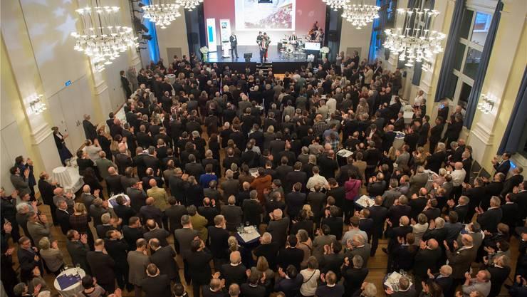 Rekord: Über 700 Personen besuchten den 12. Neujahrsapéro des Aargauischen Gewerbeverbands.