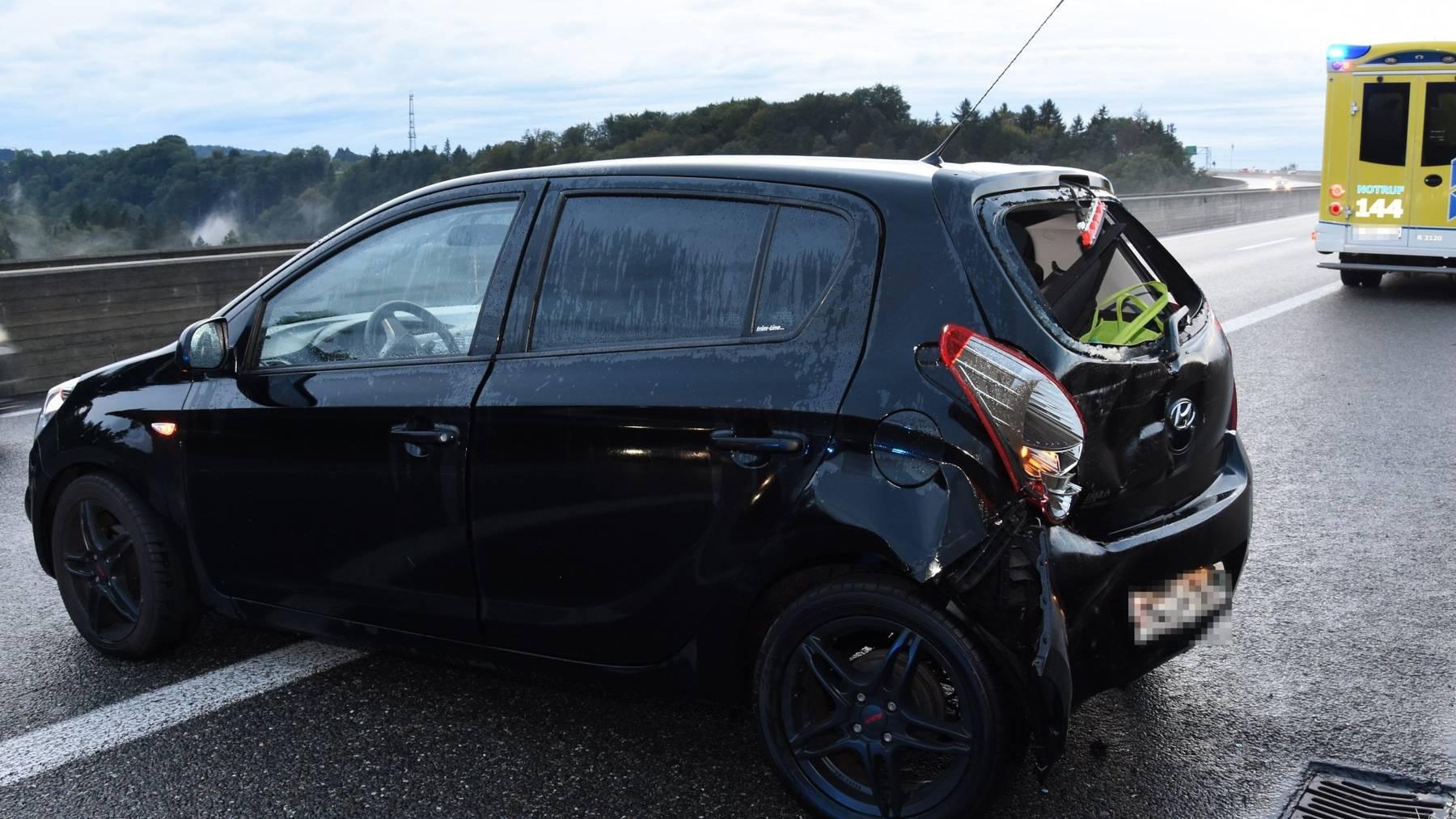 Der 47-jährige Autolenker verletzte sich leicht.