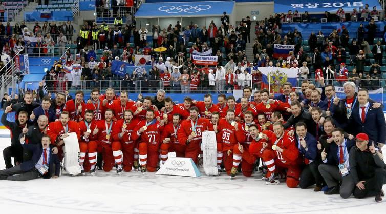 Olympiasieger: Das Eishockey-Team aus Russland