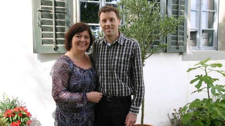 Tabea und Luc Hintze-Stalde, neues Pfarrer-Ehepaar von Thunstetten-Buetzberg. © Juerg Rettenmund