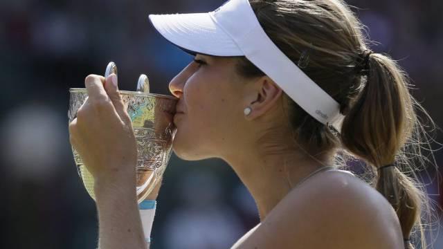 Belinda Bencic feierte ihren Sieg mit einer Pizza (Archiv)