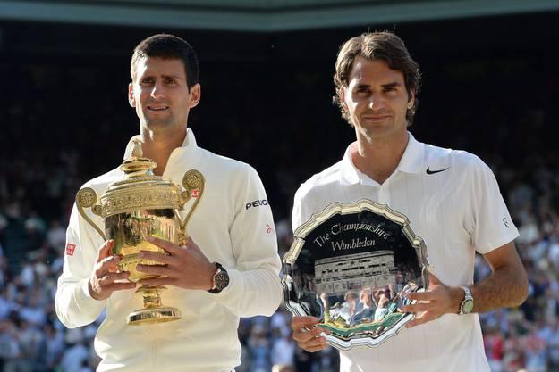 Das zweite Grand-Slam-Finalduell: Nach fünf Sätzen und fast vier Stunden Abrackern liegt ein Arbeitssieg für Djokovic mit 6:7, 6:4, 7:6, 5:7 und 6:4 drin.