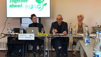 Die Medienkonferenz der Aktionskünstler, mit Patrick Frey als «Pressesprecher».
