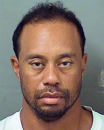 Der Tiefpunkt: Tiger Woods wird 2017 unter dem Einfluss von Medikamenten aufgegriffen.