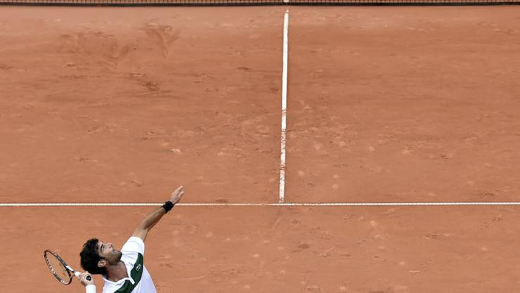 Pablo Andujar gab auf rutschigem Sand im Erstrundenspiel kein Aufschlagspiel ab