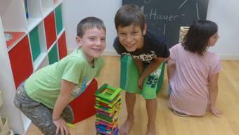 Die Kinder hatten bereits am Tag der offenen Tür Spass in den Räumlichkeiten der Tagesstrukturen.