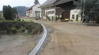 Die Bauarbeiten an der Rothenfluhstrasse sind im Gang.Bild: zvg