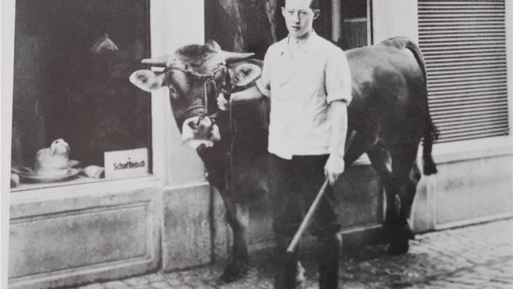Jean Müller mit Muni, 1929.