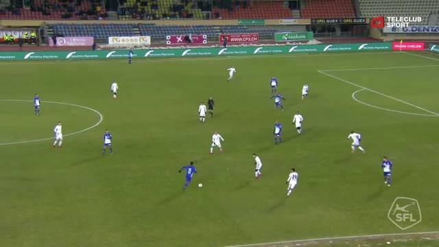 Super League, 2017/18, 17. Runde, FC Lausanne-Sport - FC Basel, Tor 1:4 (80. Min)