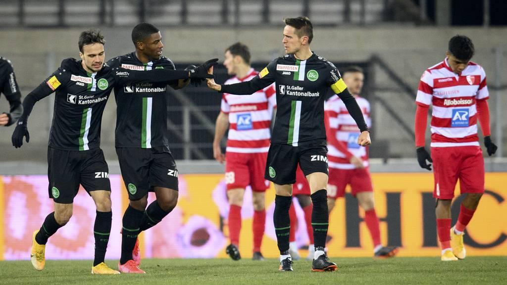 Unentschieden: Der FC St.Gallen und der FC Sion trennen sich mit 1:1