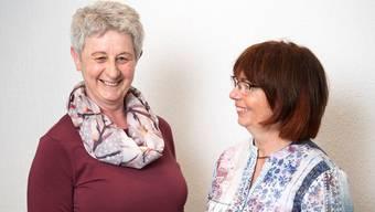 Rita Horisberger (links) und Denise Dittli stellen seit Jahren unterhaltsame Programme für die VHS zusammen. Alex Spichale