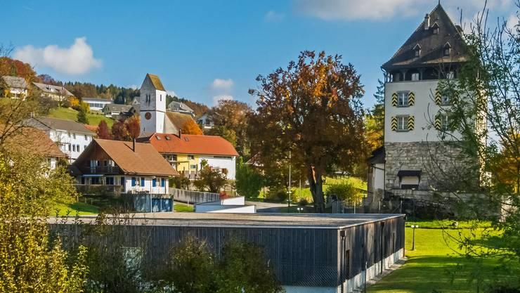Auenstein mit seinem Schloss: Der Steuerfuss soll bei 93 Prozent bleiben.