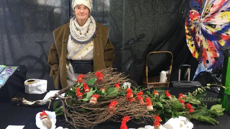 Verena Wyler am Stand der Grünen Dietikon