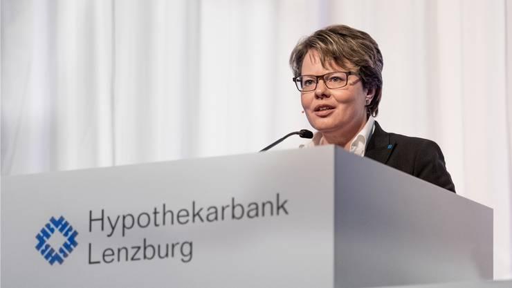 Marianne Wildi ist seit Januar 2010 Vorsitzender der Hypothekarbank Lenzburg.