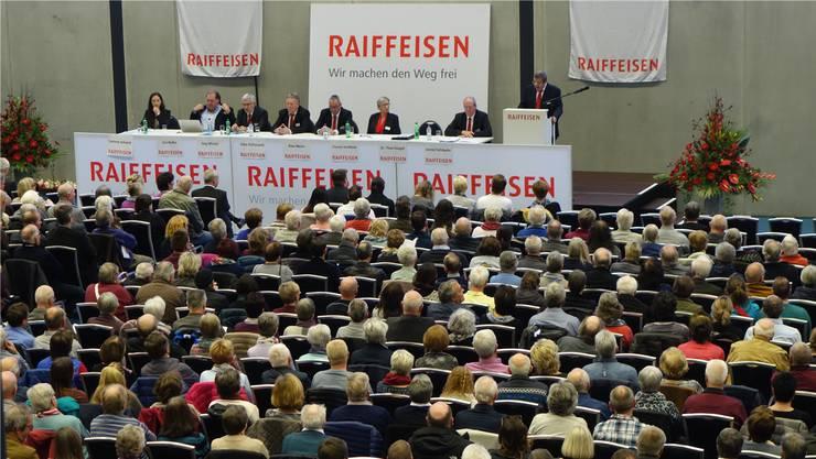 1337 Genossenschafter der Raiffeisenbank Böttstein besuchten die Generalversammlung vor einem Jahr in der Go Easy-Arena in Siggenthal Station.