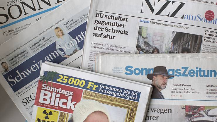 Ausgaben von Schweizer Sonntagszeitungen (Archivbild)